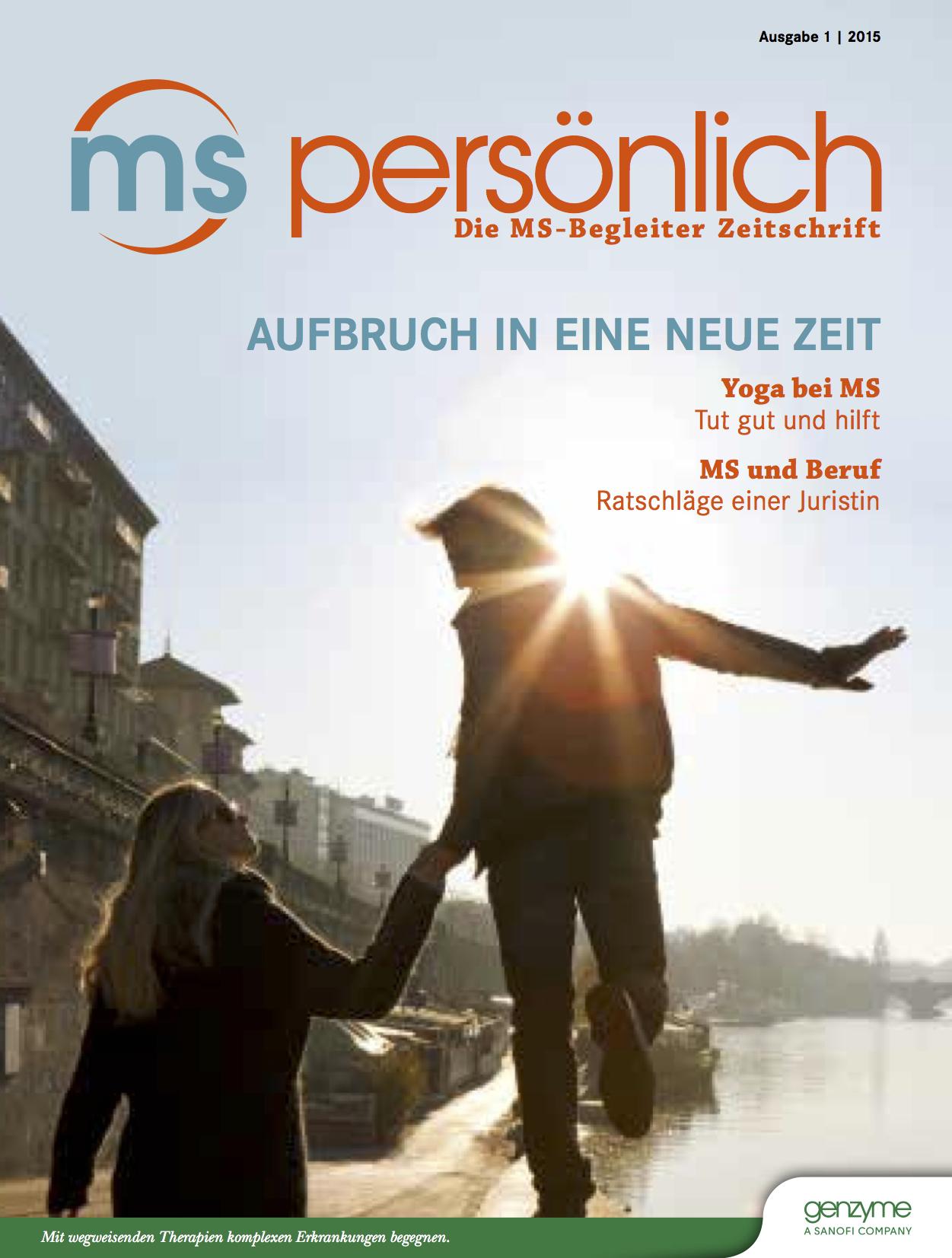 """Elegant Yoga Zeitschrift Foto Von Ms-zeitschrift """"ms Persönlich"""""""