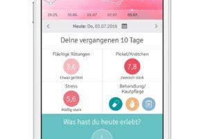 Rosacea Tagebuch App (Foto: Galderma)