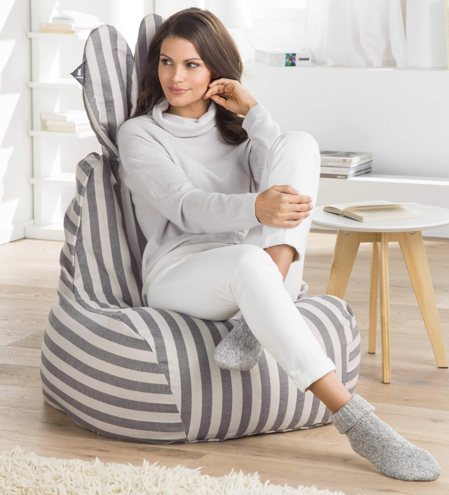 Hasen-Design-Sitzsack (Foto © Proidee)