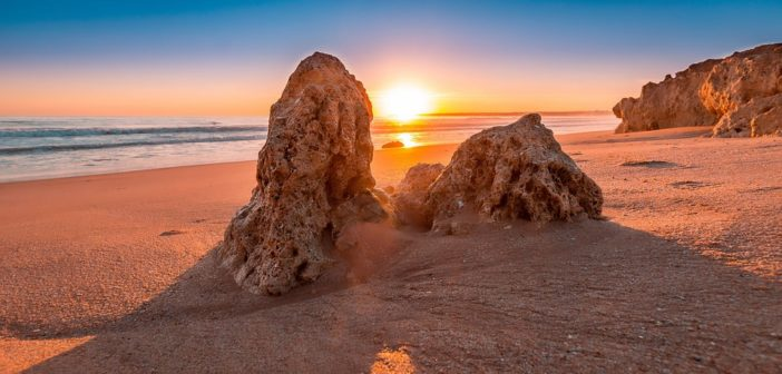 Algarve Sonnenuntergang am Strand
