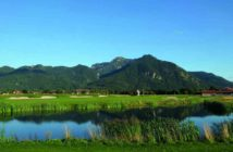 Ausblick aus dem Golf Resort Achental