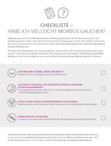 Checkliste Morbus Gaucher