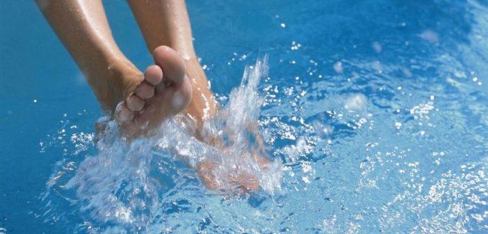 Glückliche Füße ohne Fußpilz