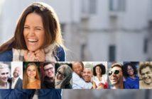 verschiedene lachende & glückliche Menschen