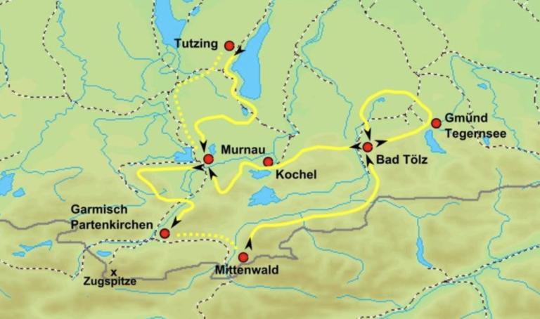 Karte von Garmisch - Partenkirchen
