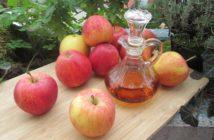 Behandlung von Fersenspor mit Hausmitteln wie Apfelessig